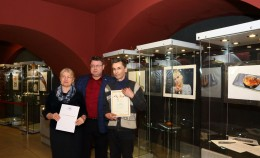 A.I.Piatikop has visited the Amber Museum