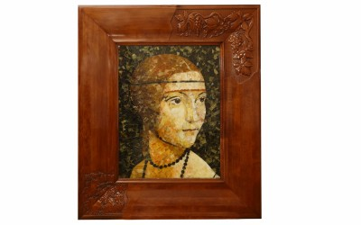 "Gavrikov V.Yu. Reproduction of the painting by Leonardo da Vinci ""Lady with an ermine"""