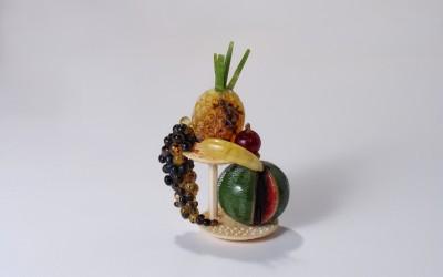 "Vase with fruit from the composition ""A Festive Table"". 2004 Author Lyudmila Vyssotskaia, Kaliningrad"
