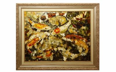 "Vysotskaia L.N., Bezuliak S.S. Decorative panel ""Kois"""