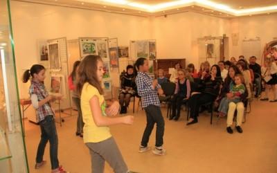 Поздравление для участников от танцевальной студии гимназии № 32. Руководитель – Ксения Моисеенко